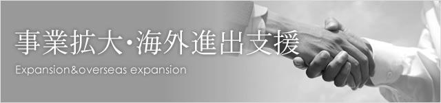 事業拡大・海外進出支援 Expansion&overseas expansion